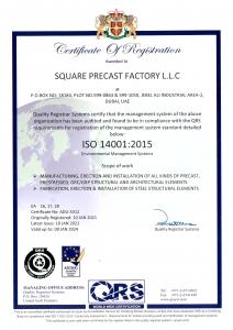 SPF ISO 14001 - 2015 CERTIFICATE