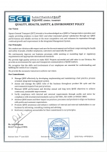 SGT QHSE POLICY