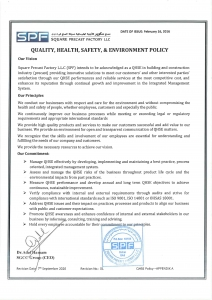 SPF QHSE POLICY