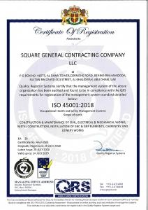 SGCC OHSAS 45001 2018 CERTIFICATE